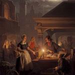 Шендель, Петр ван (Petrus van Schendel) – Первый рынок (The Fish Market), середина XIX века