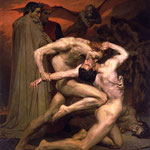 Бугро Адольф Уильям (Adolphe William Bouguereau) – Данте и Вергилий в аду (Dante et Virgile au Enfers) 1850