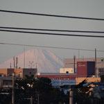 屋上より富士山