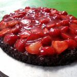 erdbeer brownie tarte