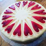 marzipan vanille torte mit verzierung zum valentinstag