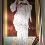 Ikone des Barmherzigen Jesu aus Krakau im Nachbardorf Surmanci