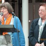 Sprecherinnen Radegund Jung u. Schwester Josy von den Aachener Medjugorje-Gruppen
