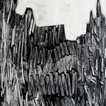 Cathédrale, monotype, matrice 40 x 30 cm - 2014