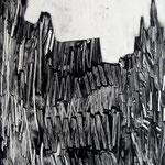 Cathédrale, monotype, matrice 40 x 30 cm