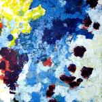 Poussin bleu-Acrylique sur toile, 195 x 114 cm-2015
