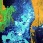 Sans titre-Acrylique sur toile, 100X81 cm