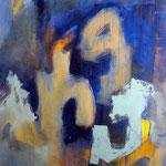 La lune et la vague- Acrylique sur toile, 195x130 cm