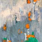 D-construction 5- Technique mixte sur toile,  61x50 cm