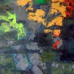 Sans titre- Technique mixte sur papier marouflé sur toile, 73x60 cm