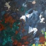 Sans titre- technique mixte sur toile, 100x100 cm