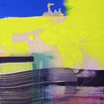 Le ciel est bleu aujourd'hui-Acrylique sur toile, 81 x 65 cm-2014