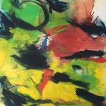 Sans titre- Acrylique sur toile, 147x130 cm