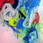 Archipel-Acrylique sur toile, 100 x 81 cm - 2012