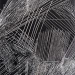 Traits urbains-Monotype, matrice 40 x 30 cm - 2014