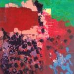 Sans titre-Technique mixte sur toile, 73x60 cm