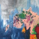 D-réglement climatique - Acrylique sur toile, 147x97 cm