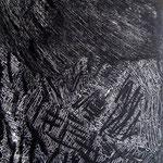 Orage, monotype, matrice 40 x 30 cm