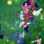 Upcycling-Acrylique sur toile, 195 x 130 cm