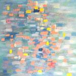 Sans titre- Huile  sur toile, 120x120 cm