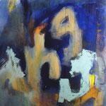 La lune et la vague-Acrylique sur toile, 195 x 130 cm-2012