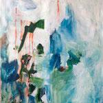 La neige fond- Acrylique sur toile, 130x97 cm