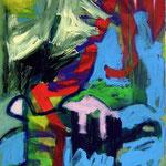 Chien errant- Acrylique sur toile, 116 x 89 cm - 2013