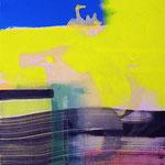 Le ciel est bleu aujourd'hui- Acrylique sur toile, 81x65 cm