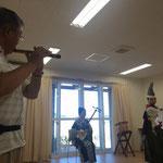 今回も全公演で笛を吹いてくださった菊池さん。