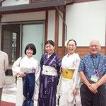 2017/7/30 陸前高田の公営住宅にて。いつも響喜の東北公演をサポートしてくださる大好きなお二人と。