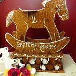 Pièce montée baptême - croque en bouche et choux