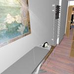 Гладя белье можно наблюдать за происходящим в комнате.