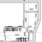 Чертеж гардеробной, если в прихожей создать потолок, то в гардеробной прибавиться площадь