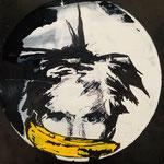Andy Warhol, Acryl und Edding auf Vinyl, 2020