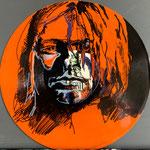 Curt Curbain, Acryl und Edding auf Vinyl, 2019