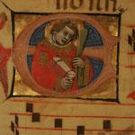 Miniatura originale dei corali di San Giovanni In Persiceto al museo d'arte sacra