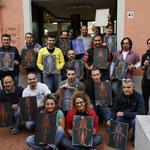 Il gruppo, corso di PInstriping foto ricordo Ottobre 2012 alla Scuola delle Arti San Giovanni IN Persiceto (BO) nella sede di MiniaturArte associazione Culturale dedita all'arte