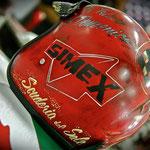 Pinstriping su casco per Biagio Longo della Scuderia del Sale.