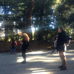 国境を越えた耳。サウンドウォーク (明治神宮 アートプロジェクトJan&Angela)