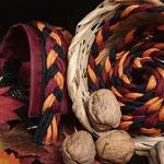 swiss-hundeleinen, Hundeleine in den Herbstfarben, passendes Halsband auf Anfrage