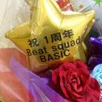 """""""祝1周年 Beat squad BASIC""""のメッセージには、本当にグっとキました♪"""