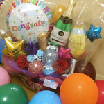 おりえちゃんが1周年を祝って送ってくれたバルーンアートの花束、めっちゃ素敵!!♪