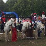 2 Ascania Pferdefestival in Aschersleben mit Springreiterelite in der schwersten Klasse S drei Sternemit Führzügel mit Kostüme