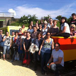 Juni 2013: Mitarbeiterinnen und Mitarbeiter des Kolpinghauses Msitelbach beim gemeinsamen Ausflug.