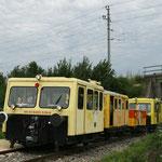 Der Präsentationzug beim Zwischenhalt in der Station Mistelbach Interspar.