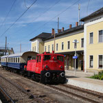 Nach dem Stürzen - Bahnhof Hohenau