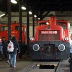 Links die 2060.091 des Vereins Neue LAndesbahn und die 2062.053 der FROWOS.
