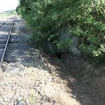 Der Bahngraben ist teilweise wieder hergestellt und an den Durchlass wieder angeschlossen.