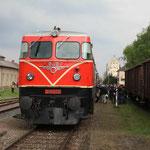 Die Lok steht für die Rückfahrt nach Mistelbacvh bereit.