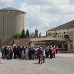 Hohenau - ehemalige Zuckerfabrik. Führung für die Gäste.